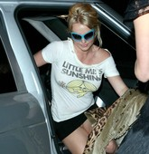 Britney Spears Upskirt Enseñando Coño