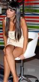 Cristina Pedroche Sentada Upskirt Con Minivestido